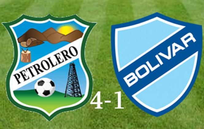 Petrolero del Chaco golea 4-1 a Bolívar y mete presión a Nacional Potosí y Ciclón por el descenso