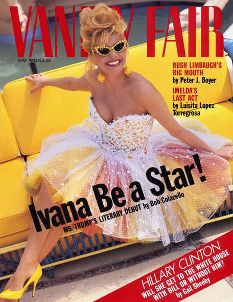 Ivana sonríe desde la portada de mayo de 1992 de la edición estadounidense de Vanity Fair.