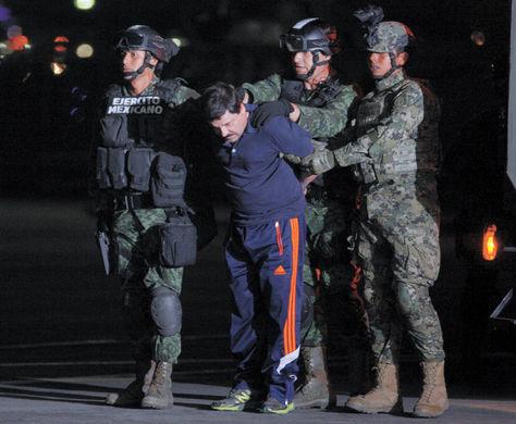Capo. Joaquín 'El Chapo' Guzmán fue recapturado en enero, su vida inspira una serie.