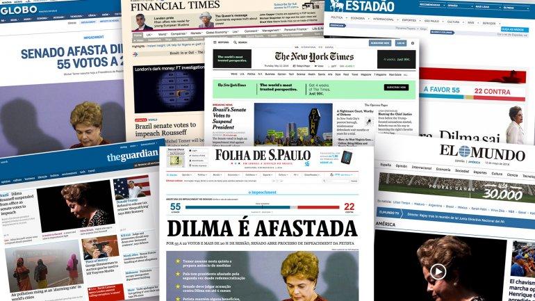 Los periódicos más importantes del planeta reflejaron de inmediato la aprobación del juicio político a Dilma Rousseff