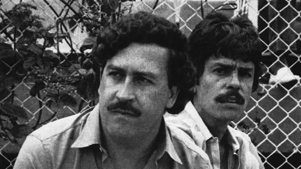 Pablo Escobar en Medellín, en 1983 (AP).