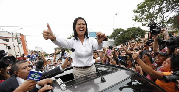 Según las primera estimaciones de Ipsos, Keiko Fujimori, de Fuerza Popular (derecha) es la virtual ganadora de las elecciones de Perú