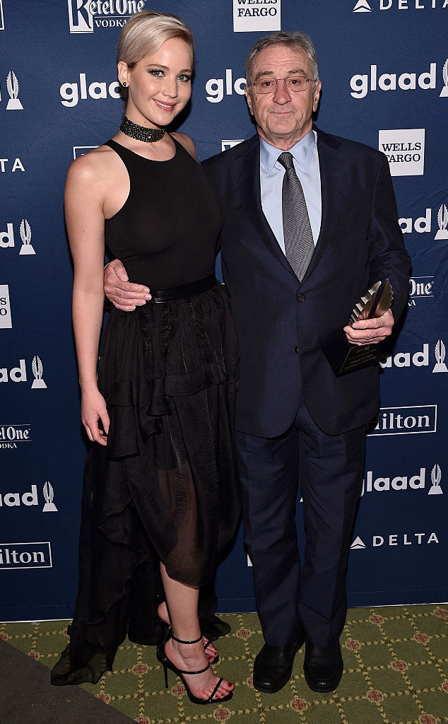 Jennifer Lawrence, Robert De Niro, GLAAD Media Awards 2016