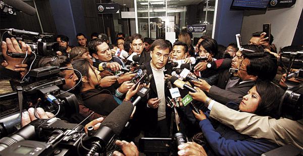 Juan Ramón Quintana denunció en la Fiscalía otro proceso en contra de la exgerenta comercial de CAMC