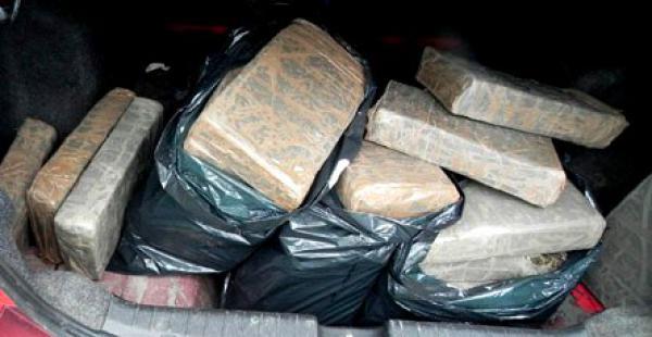 La droga incautada estaba oculta en compartimientos de doble fondo en uno de los cuatro vehículos
