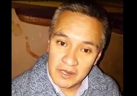 Captura de pantalla del video del abogado Eduardo León que fue difundido a través de la red social Facebook.