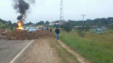 Bloqueo de los transportistas en Camiri