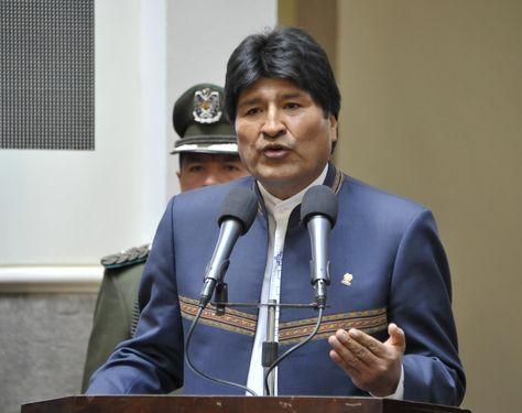 El presidente Evo Morales durante un acto en Palacio de Gobierno. Foto: Archivo