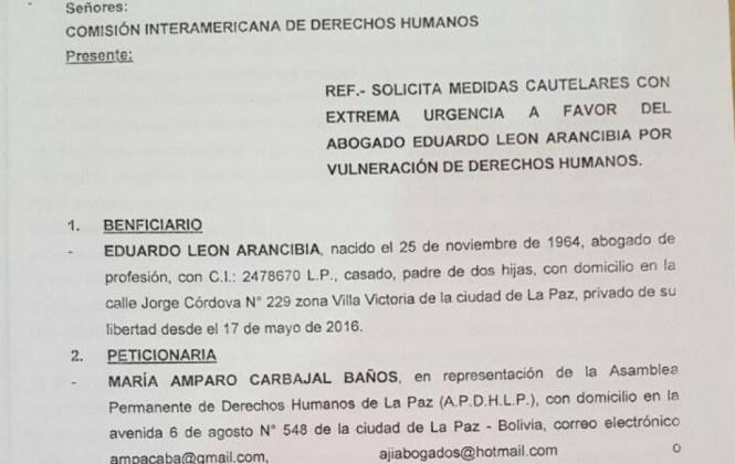 Asamblea de Derechos Humanos solicita medidas cautelares ante la CIDH para Eduardo León