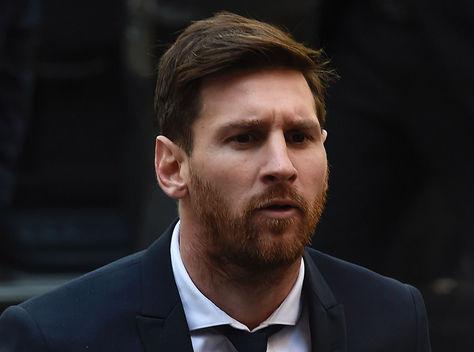 Lionel Messi, ayer en los tribunales de Barcelona.