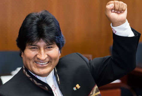 El presidente Evo Morales