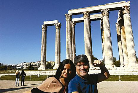 En el Partenón de Atenas.