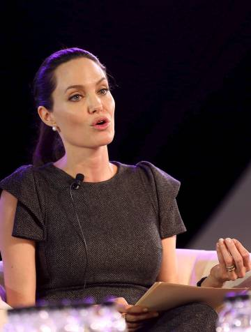Angelina Jolie, en una conferencia en Johanesburgo en 2015.