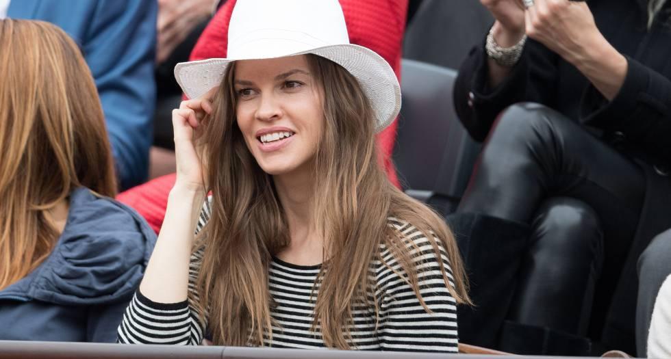 Hilary Swank, el pasado fin de semana en la final femenina del torneo Roland Garros.