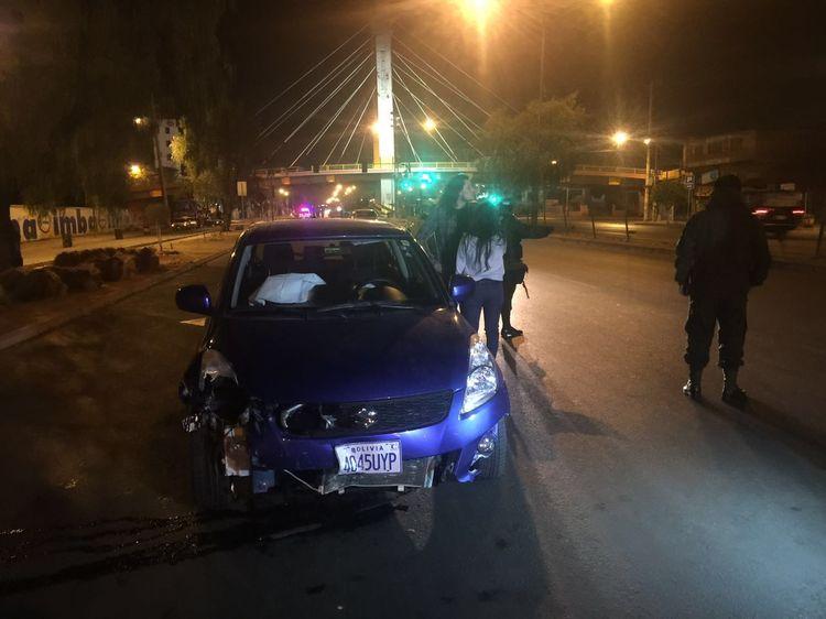 El vehículo que protagonizó el accidente en Cochabamba