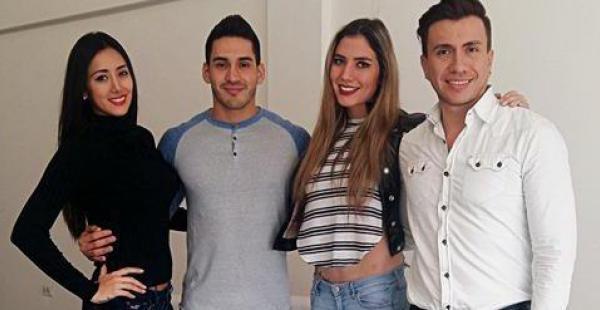Gabriela Hollweg, Mónica Fuentes, José Piérola y Hugo Leigue