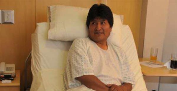 Evo Morales tiene que ser sometido a fisioterapias para recuperarse