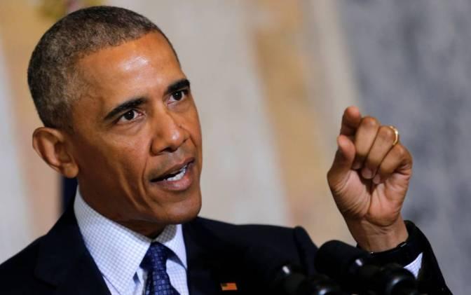Obama durante su discurso en Washington.