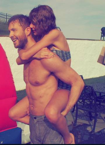 Calvin Harris y Taylor Swift, el verano pasado.