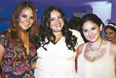 Laura Sofía Serrate, y Adriana y Tania Melgar disfrutaron de la fiesta
