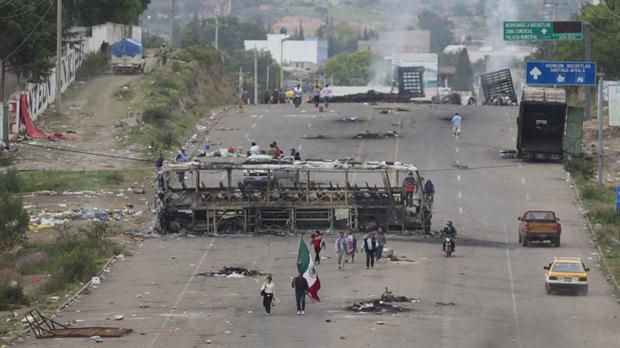 Los docentes mantenían ayer algunos piquetes en Oaxaca