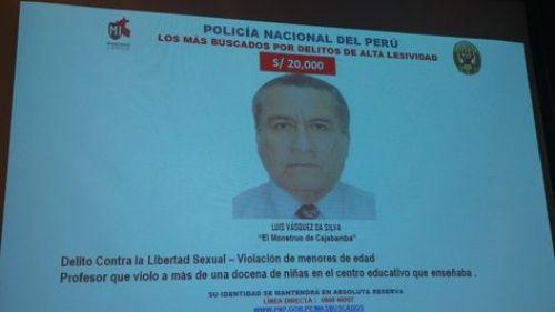 Da Silva es uno de los 15 hombres más buscados de Perú, acusado de ultrajar a 17 menores de edad. (Foto: Internet)