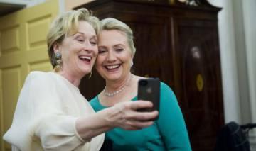 Meryl Streep y Hillary Clinton, en diciembre de 2012.