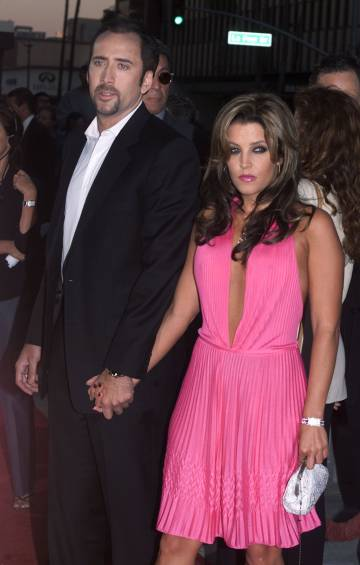 Nicolas y Lisa Marie (hija de Elvis Presley), aficionados a lo breve: se casaron después de solo 10 días de relación y el matrimonio duró cuatro meses.