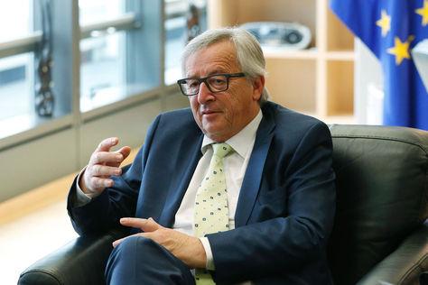El jefe de la Comisión Europea, Jean-Claude Juncker, durante una reunión con el líder del Parlamento de la UE.