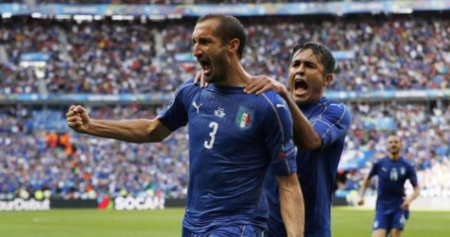 Giorgio Chiellini abrió el marcador en la primera parte. (Reuters)