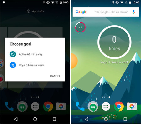 Google Fit widget