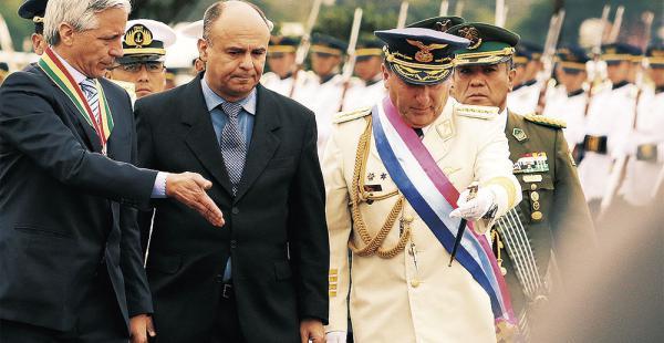 El ministro Reymi Ferreira estuvo ayer con el vicepresidente García Linera en los actos del Colmilav