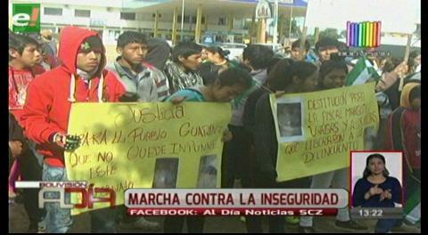 Marcha contra la inseguridad exige justicia para joven asesinado