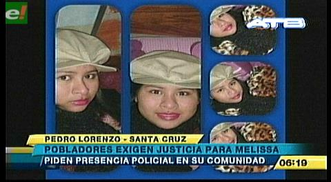 Pobladores de Pedro Lorenzo exigen justicia para Melissa