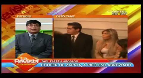 Chofer detenido por el caso Zapata se acogerá a proceso abreviado