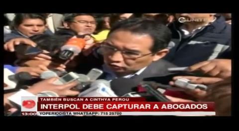 Interpol tiene orden de captura para los abogados Zuleta y Sánchez Peña