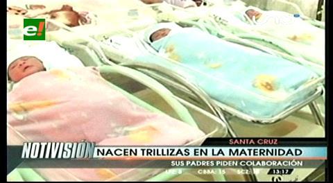 Padres esperaban gemelos y nacieron trillizas