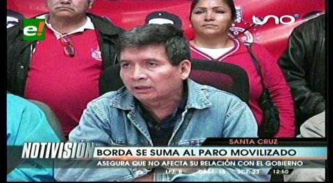 Rolando Borda se suma al paro movilizado de la COB
