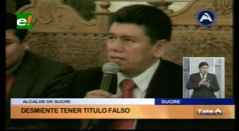 Alcalde de Sucre niega tener título profesional falsificado