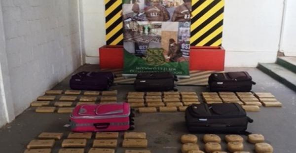 La Policía chilena realizó dos operativos para contrarrestar el ingreso de la sustancia ilícita por la frontera.