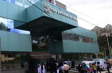 Hospital Petrolero de Obrajes. Foto: La Razón