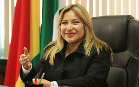 Kathya Quiroga, presidenta de la Asamblea Legislativa Departamental de Santa Cruz
