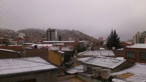 Así amaneció Oruro después de la nevada. Foto: Juan Mejía.