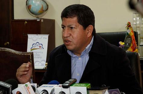 Luis Alberto Sánchez, ministro de Hidrocarburos y Energía.