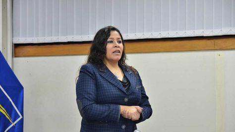 Noemí Villegas, presidenta de la Administradora Boliviana de Carreteras (ABC).