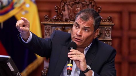 El presidente de Ecuador, Rafael Correa, durante unas declaraciones hoy, martes 5 de julio de 2016. Foto: EFE