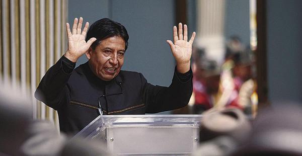 El canciller David Choquehuanca planteó el problema del Silala en la reunión de la OEA