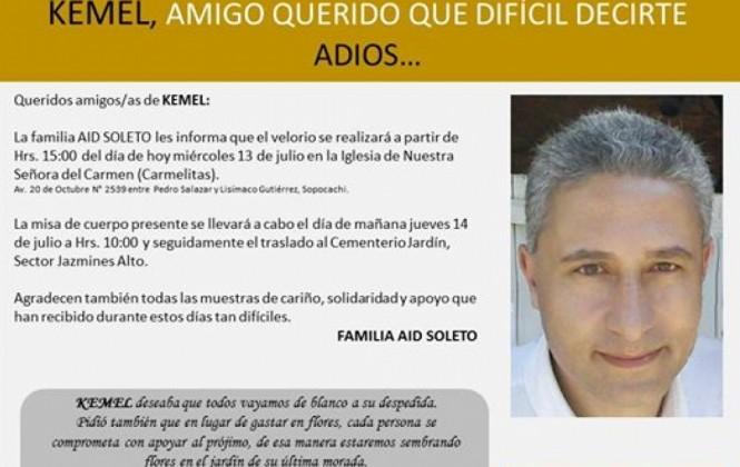 Kemel Aid se fue como vivió: ayudando a construir una sociedad mejor