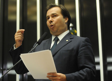 Rodrigo Maia, presidente interino de la cámara de Diputados de Brasil.