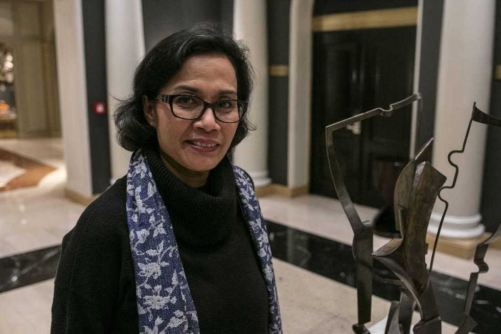 La directora gerente del Banco Mundial, Sri Mulyani Indrawati, en la entrevista con EL PAÍS.